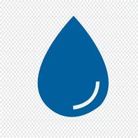 goccia d'acqua icona illustrazione vettoriale