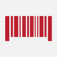Illustrazione di vettore dell'icona del codice a barre