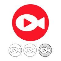 icona della videocamera vettore