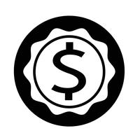 Icona del segno del dollaro