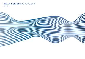 Linee orizzontali astratte linee orizzontali del modello blu di progettazione dell'onda su fondo bianco. trama di arte ottica