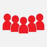 illustrazione vettoriale di persone icona