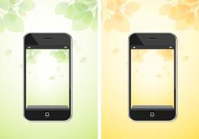 Pacchetto di vettore di sfondo iPhone autunno e primavera