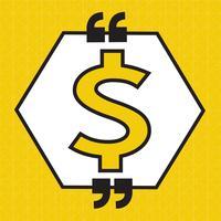 Icona dei soldi del segno del dollaro vettore