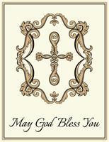 Croce cristiana decorativa vettore