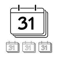 Progettazione dell'illustrazione dell'icona di vettore del calendario