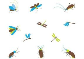 Confezione di Cartoon Insect Vector
