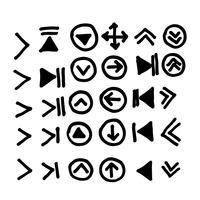 Icona della freccia disegnata a mano vettore