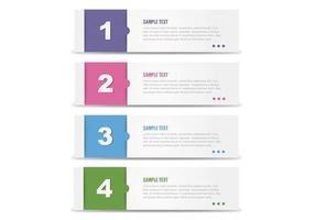 Moderna numerata Banner Vector Pack