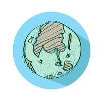 Icona di vettore di globo terra