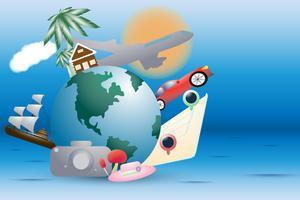 Gioia di vacanza nelle vacanze estive e sullo sfondo spiaggia
