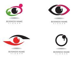 Logo e simbolo per la cura dell'occhio vettore