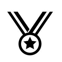 Medaglia icona vettoriale