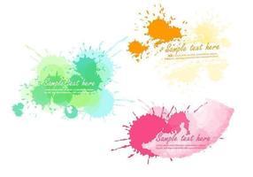 pacchetto di banner vector splatter di vernice brillante