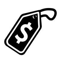 Vettore dell'icona del cartellino del prezzo