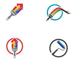 Dipinga l'illustrazione dell'icona di vettore del modello di logo