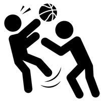 Vettore dell'icona del fallo di pallacanestro