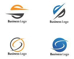 S logo in flash e simboli icone vettoriali modello