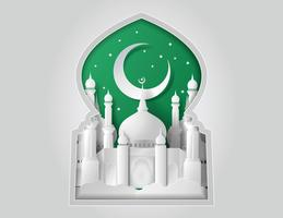 Vettore di Moschea di carta.