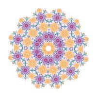 Disegno floreale dell'illustrazione della mandala di vettore