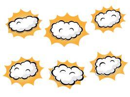 nuvoletta vuota con punti mezzatinta