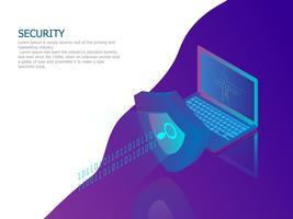 concetto di sicurezza della rete vettore
