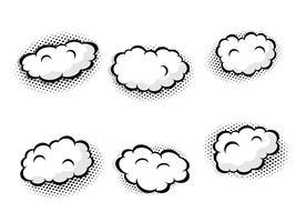 set di nuvoletta vuota