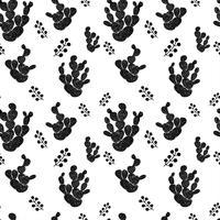 Modello senza cuciture decorativo disegnato a mano con cactus. in stile scandinavo. Design tropicale alla moda per il tessile
