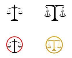 Icone del modello di logo e simboli dell'avvocato della giustizia app vettore