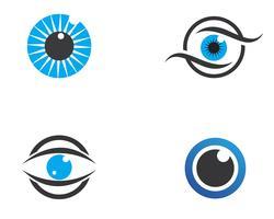 Modello di progettazione di logo di vettore di cura dell'occhio