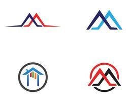 modello di icone logo e simboli di edifici domestici
