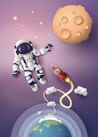 Astronauta astronauta, taglio di carta