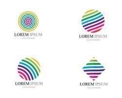 Icone variopinte di logo del mondo del cavo