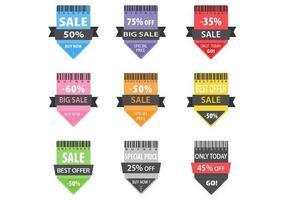 Pacchetto distintivo di vettore di vendita di freccia luminosa