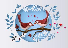 Illustrazione di Love and Valentine Day vettore