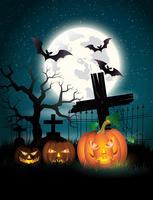 Felice poster di Halloween. Illustrazione vettoriale