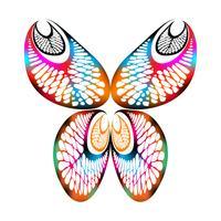 Gambo della banana che timbra a forma di farfalla vettore