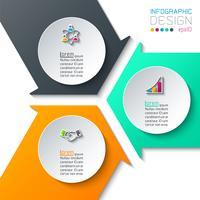 Infographics astratto su grafica vettoriale. vettore