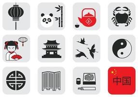Pacchetto di elementi vettoriali di cultura cinese