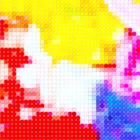 sfondo colorato in pixel art vettore