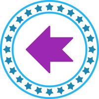 Icona freccia sinistra di vettore