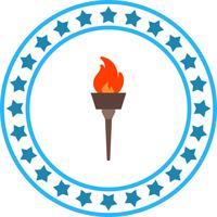 Icona del fuoco olimpico vettoriale
