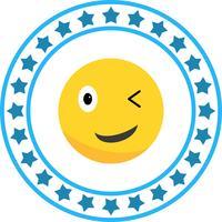 Vector wink Emoji Icon