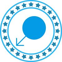 Icona del segno maschile di vettore