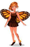Bella fata farfalla monarca vettore