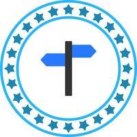Icona di direzione vettoriale