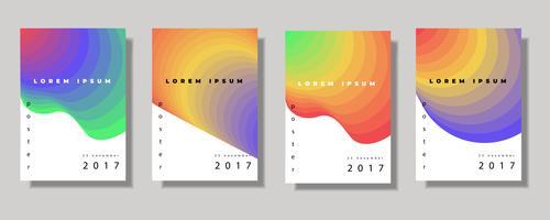 Set di coperchi di colore fluido