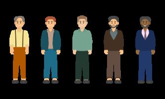 Gruppo di character design di uomo d'affari.