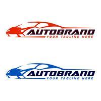 Modello di progettazione logo Autosport vettore