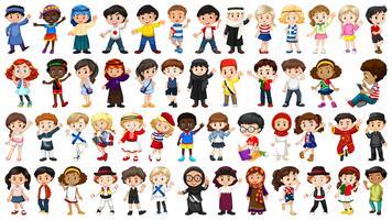 Set di caratteri internazionali per bambini
